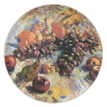 Van Gogh Apples Pears Lemons Grapes (F382) Party Plates
