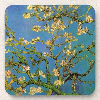 Van Gogh Árbol de almendra floreciente flores de Posavasos De Bebidas