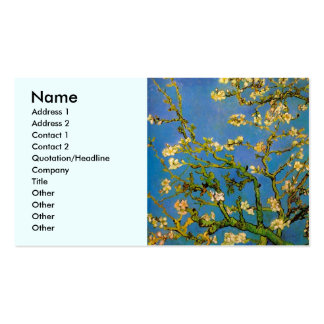 Van Gogh; Árbol de almendra floreciente, flores de Tarjetas De Visita