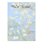 Van Gogh - árbol de almendra floreciente Invitacion Personalizada