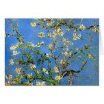 Van Gogh - árbol de almendra floreciente Felicitación