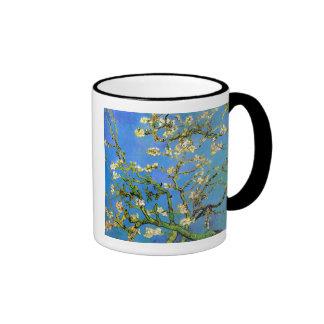 Van Gogh - árbol de almendra floreciente Taza A Dos Colores