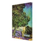 Van Gogh; Árbol de castaña en el flor, arte del vi Impresiones En Lona Estiradas