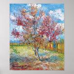 Van Gogh - árboles de melocotón rosados Impresiones
