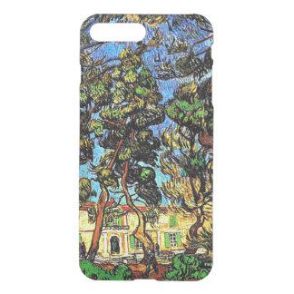 Van Gogh - árboles en el jardín del hospital Fundas Para iPhone 7 Plus