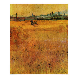 Van Gogh Arles: View from the Wheat Fields Poster