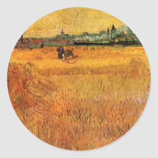 Van Gogh; Arles: View from the Wheat Fields Sticker