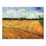 Van Gogh aró el campo, arte del impresionismo del Invitación 10,8 X 13,9 Cm