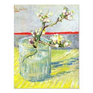 Van Gogh Art, Blossoming Almond Branch in a Glass Card