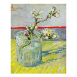 Van Gogh Art, Blossoming Almond Branch in a Glass Print