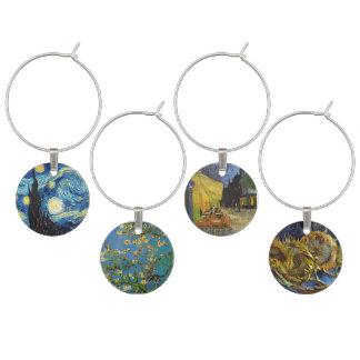 Van Gogh Art Blue Wine Charms