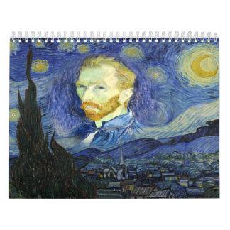 Van gogh art calendar