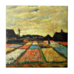 Van Gogh art: Flower Beds in Holland Small Square Tile