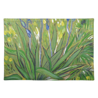 Van Gogh art  Irises, acrylic reproduction Cloth Placemat