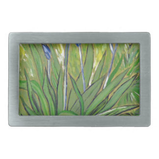 Van Gogh art  Irises, acrylic reproduction Rectangular Belt Buckle