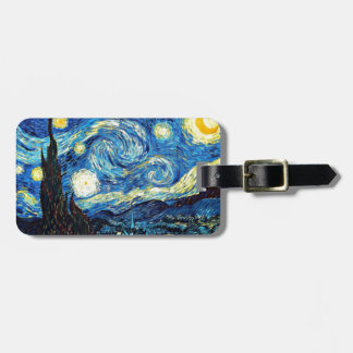 Van Gogh art: Starry Night Bag Tag
