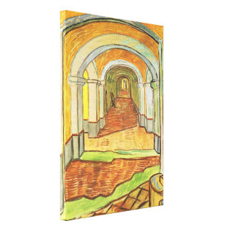 Van Gogh, asilo de Saint Paul del pasillo, bella Impresiones De Lienzo