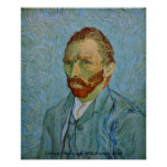 Van Gogh: Autorretrato, 1890 Posters