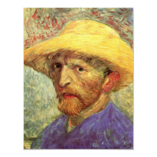 Van Gogh; Autorretrato con el gorra de paja