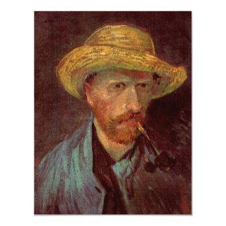 Van Gogh; Autorretrato con el gorra y el tubo de Invitación 10,8 X 13,9 Cm