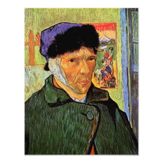 """Van Gogh; Autorretrato con el oído vendado Invitación 4.25"""" X 5.5"""""""