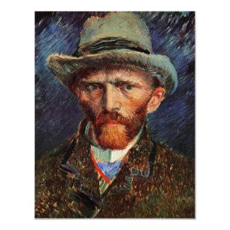 Van Gogh; Autorretrato con el sombrero de fieltro