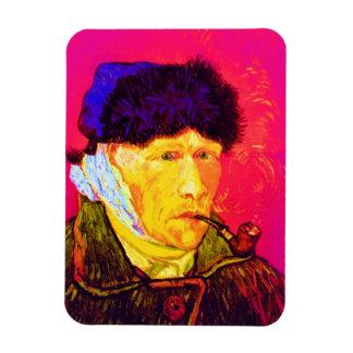 Van Gogh - autorretrato del arte pop con el oído Imán De Vinilo