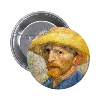 Van Gogh - autorretrato Pin Redondo 5 Cm