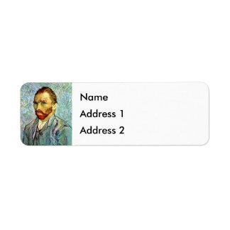 Van Gogh - autorretrato verde Etiquetas De Remite