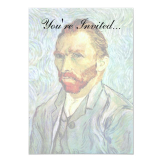 Van Gogh - autorretrato verde Invitación 12,7 X 17,8 Cm