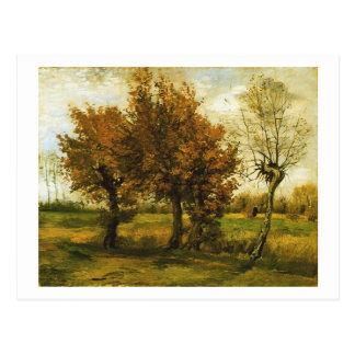 Van Gogh Autumn Landscape Four Trees (F44) Postcard