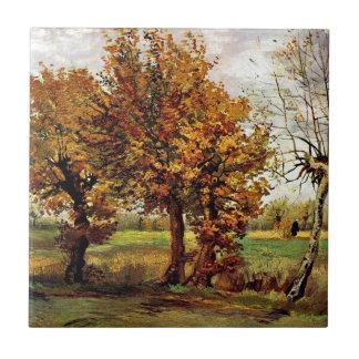Van Gogh - Autumn Landscape With Four Trees Tile