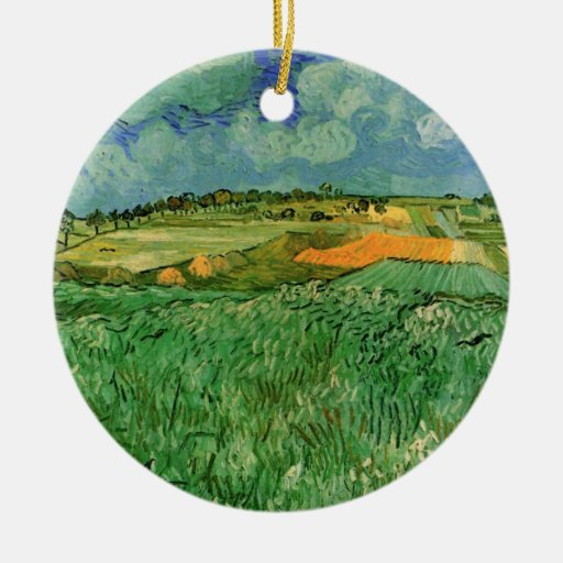 Van Gogh; Auvers cercano llano, impresionismo del  Ornamentos De Reyes