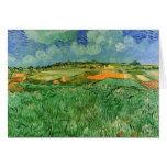 Van Gogh; Auvers cercano llano, impresionismo del  Tarjetón
