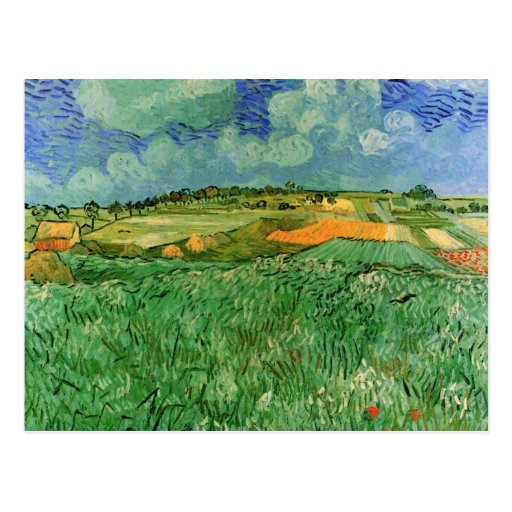 Van Gogh; Auvers cercano llano, impresionismo del  Postal