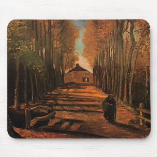 Van Gogh Avenue of Poplars in Autumn (F122) Mouse Pads