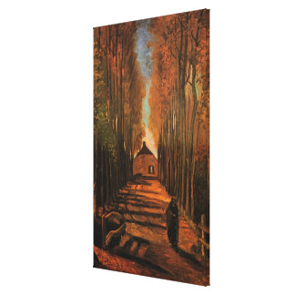 Van Gogh Avenue of Poplars in Autumn, Fine Art Canvas Print