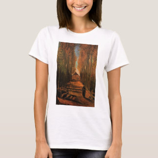 Van Gogh Avenue of Poplars in Autumn, Fine Art T-Shirt