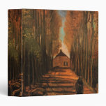 Van Gogh Avenue of Poplars in Autumn, Vintage Art 3 Ring Binders