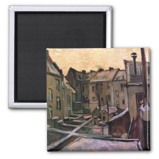 Van Gogh - Backyards Of Old Houses 2 Inch Square Magnet