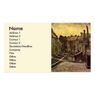 Van Gogh Backyards of Old Houses, Antwerp in Snow Business Card