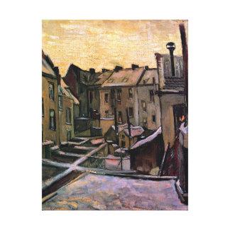 Van Gogh - Backyards Of Old Houses Canvas Print