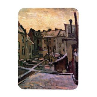 Van Gogh - Backyards Of Old Houses Rectangular Photo Magnet