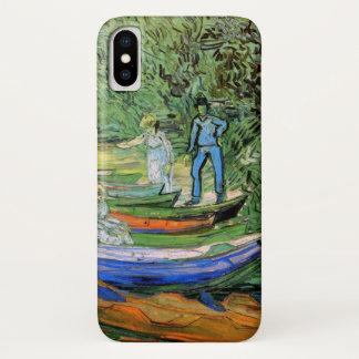 Van Gogh Bank of Oise at Auvers, Vintage Fine Art iPhone X Case
