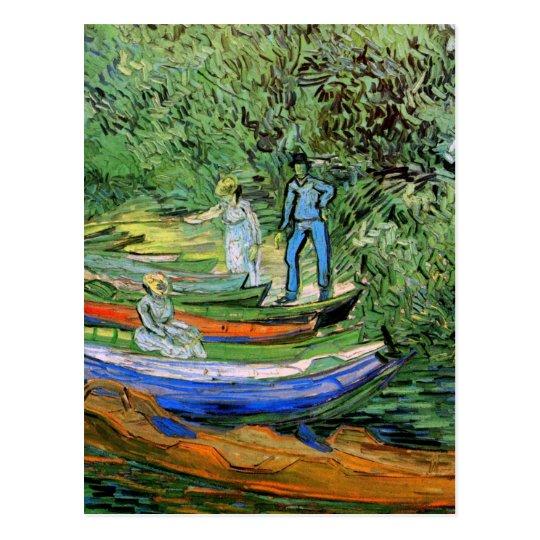 Van Gogh Bank of Oise at Auvers, Vintage Fine Art Postcard