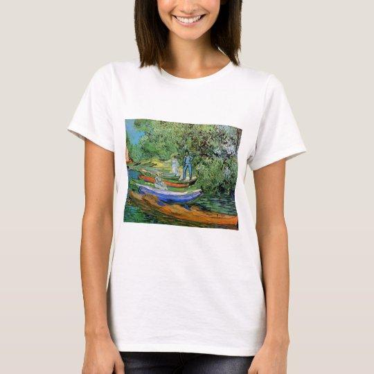 Van Gogh Bank of Oise at Auvers, Vintage Fine Art T-Shirt