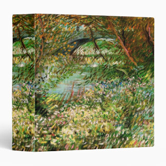 Van Gogh Banks of Seine Pont de Clichy in Spring 3 Ring Binder