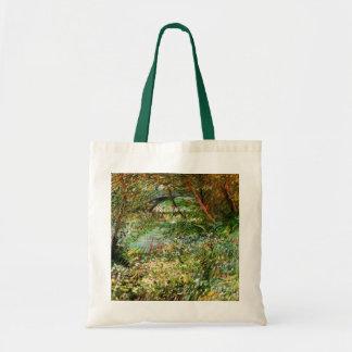 Van Gogh; Banks of Seine Pont de Clichy in Spring Canvas Bags
