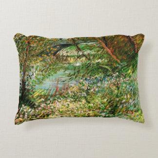 Van Gogh Banks of Seine Pont de Clichy in Spring Decorative Pillow