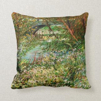 Van Gogh Banks of Seine Pont de Clichy in Spring Throw Pillow
